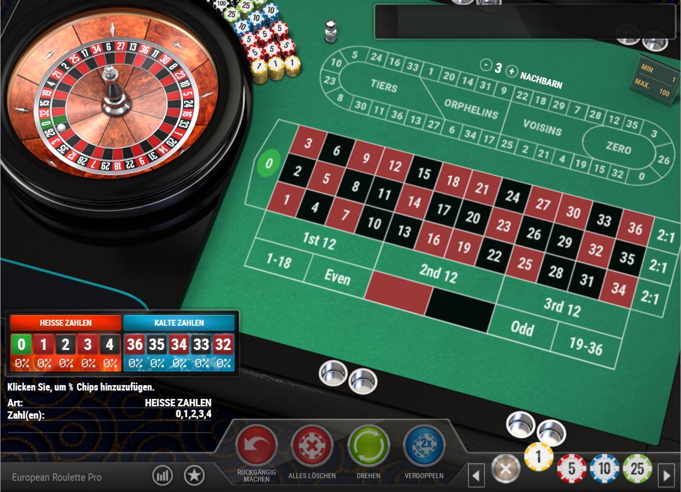 Französisches Roulette kostenlos spielen